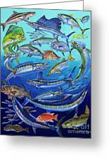 Gamefish Collage In0031 Greeting Card