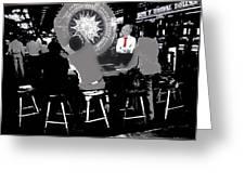 Gaming Tables Interior Binion's Horseshoe Casino Las Vegas Nevada 1979-2014 Greeting Card