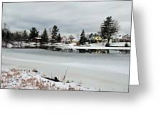 Gananoque River In Winter 4 Greeting Card