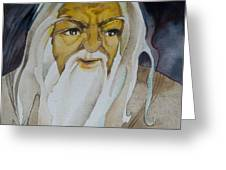 Gandalf The White Greeting Card by Patricia Howitt