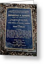 Gandhi Plaque Greeting Card