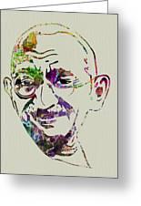 Gandhi Watercolor Greeting Card