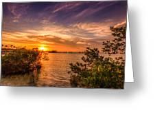 Gandy Sunset Greeting Card