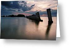 Gandy Wall At Sunset II Greeting Card