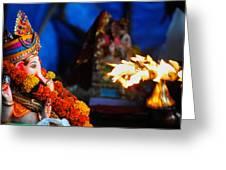 Ganesha Worship Greeting Card