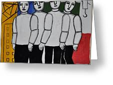 Gang Of Four Greeting Card