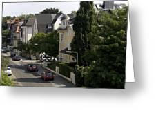 Ganghoferstrasse In Frankfurt Am Main Germany Greeting Card