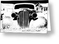 Gangster Car Greeting Card by Cat Connor