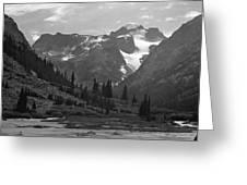 509417-bw-gannett Peak Seen From Dinwoody Creek Greeting Card