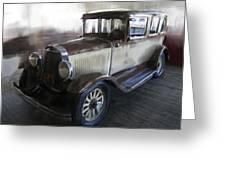 Gansgter Era Automobile Greeting Card
