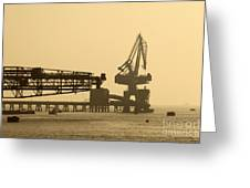 Gantry Crane In Port Greeting Card