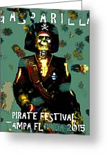 Gasparilla Pirate Fest 2015 Full Work Greeting Card