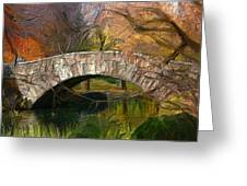 Gapstow Bridge In Central Park Greeting Card