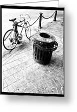 Garbage Bike  Greeting Card