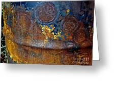 Garbage Can Abstract Greeting Card