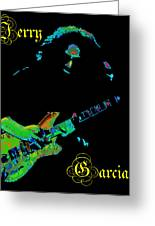 Garcia Rocks At Winterland 1977 Greeting Card