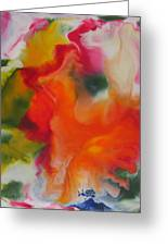 Garden Angel Abstract Greeting Card