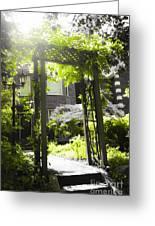 Garden Arbor In Sunlight Greeting Card by Elena Elisseeva