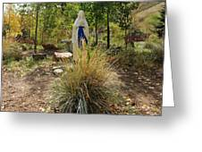 Garden At Mother Cabrini Greeting Card