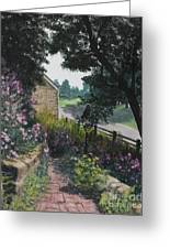 Garden At Pendarvis Mineral Point Wisconsin  1 Greeting Card