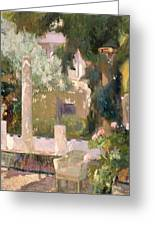 Garden At The Sorolla House Greeting Card