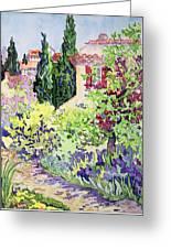 Garden At Vaison Greeting Card