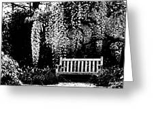 Garden Bench  By Zina Zinchik Greeting Card