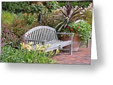 Garden Benches 3 Greeting Card