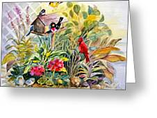 Garden Birds Greeting Card