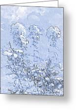 Garden Blue Greeting Card by Diana  Tyson