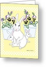 Garden Bunnies Greeting Card