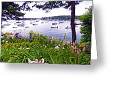 Garden By The Sea Greeting Card