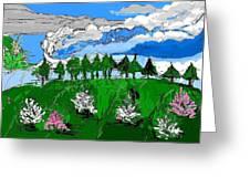 Garden Clouds Greeting Card