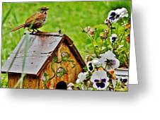 Garden Decor With Song Greeting Card