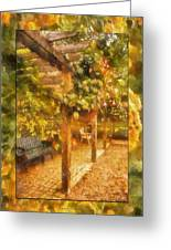 Garden Flowers With Bench Photo Art 02 Greeting Card