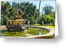 Garden Fountain - Iconic Fountain At The Huntington Library And Botanical Ga Greeting Card