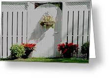 Garden Gate  Greeting Card