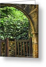 Garden Gate In Sarlat Greeting Card by Elena Elisseeva