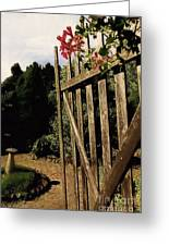 Garden Gate Welcome Greeting Card