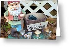Garden Gnome - Square Greeting Card