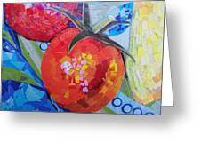 Garden Harvest Collage Detail Greeting Card