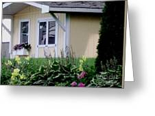 Garden House Of Flowers Greeting Card