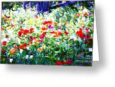 Garden Impressionism Greeting Card