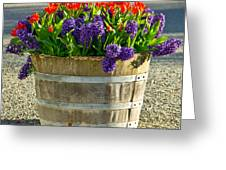 Garden In A Bucket Greeting Card by Eti Reid