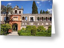 Garden In Alcazar Palace Of Seville Greeting Card