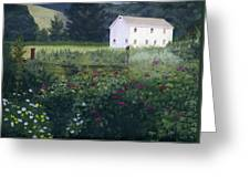 Garden In The Back Greeting Card