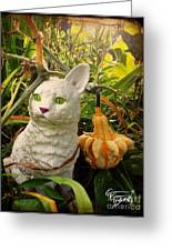 Garden Kitty In The Fall Greeting Card