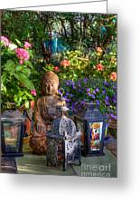 Garden Meditation Greeting Card
