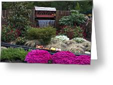 Garden Miniature Train Greeting Card