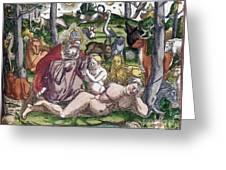 Garden Of Eden Historiae Animalium Greeting Card